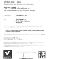 Jk Service - Grâce Hollogne - Certification